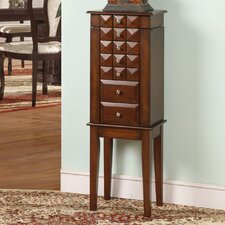 Diamond Classic 6 Drawer Jewelry Armoire with Mirror