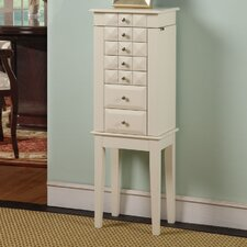 <strong>Wildon Home ®</strong> Diamond Classic 6 Drawer Jewelry Armoire with Mirror