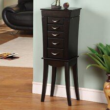 <strong>Wildon Home ®</strong> London 5 Drawer Jewelry Armoire with Mirror