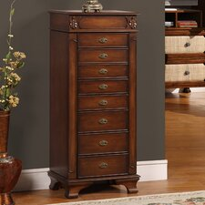 Manhattan Jewelry Armoire With Mirror
