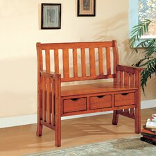 <strong>Wildon Home ®</strong> Whiteson Wooden Entryway Storage Bench