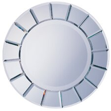 "<strong>Wildon Home ®</strong> 30"" H x 30"" W Toppenish Sun Shaped Mirror with Beveled Edge"