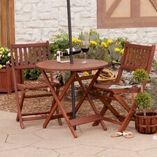 Griffin Folding Bistro 3 Pieces Dining Set