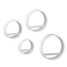 Bella 4 Piece Circle Wall Shelf Set