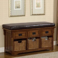 <strong>Wildon Home ®</strong> Upland Wooden Entryway Storage Bench