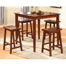 Allegany 5 Piece Counter Height Dining Set