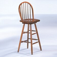 "McCoy 29"" Arrow Back Stool in Oak"