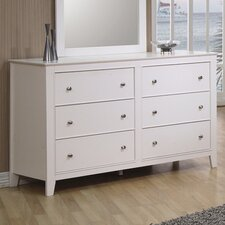 <strong>Wildon Home ®</strong> Twin Lakes 6-Drawer Dresser