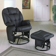 <strong>Wildon Home ®</strong> Glenwood Swivel Glider and Ottoman