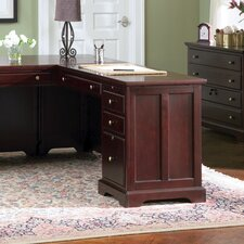 <strong>Wildon Home ®</strong> Poway Right Desk in Dark Cherry
