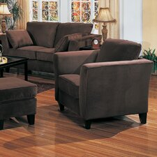 Holtville Velvet Chair and Ottoman