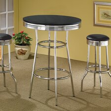 <strong>Wildon Home ®</strong> Ridgeway Soda Fountain Pub Table with Optional Stools