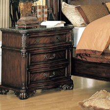Fabiana 3 Drawer Nightstand