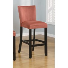 "Bullhead City 29"" Microfiber Barstool in Terracotta"