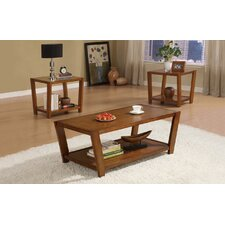 Amalga Angled 3 Piece Coffee Table Set
