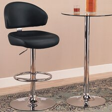 "Colorado City 29"" Vinyl Barstool with Footrest in Black"