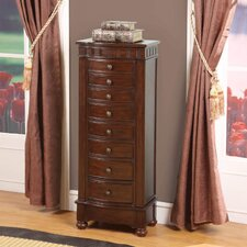 Murphy Eight Drawer Charging Jewelry Armoire in Coffee Brown