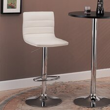 "Colorado City 29"" Ribbed Vinyl Barstool with Footrest"