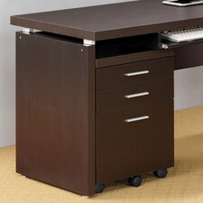 Beaver Mobile File Cabinet in Cappuccino