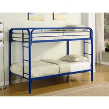 <strong>Wildon Home ®</strong> Framington Twin over Twin Bunk Bed with Built-In Ladder
