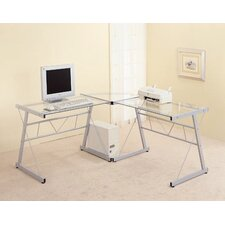 <strong>Wildon Home ®</strong> Rickreall Glass Computer Desk