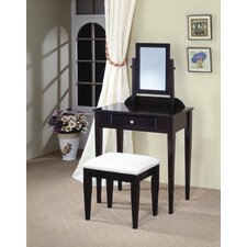 Woodinville Vanity Set with Stool in Cappuccino