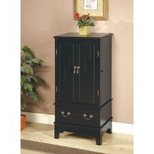 "Wapato 38"" Jewelry Armoire in Black"