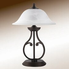 Table Lamp with Glass Shade