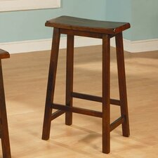 "29"" Backless Wooden Barstool in Walnut"