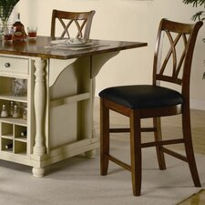 "Jackman 20"" Barstool in Warm Cherry"