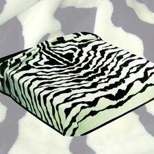 Zebra Acrylic Mink Skin Blanket
