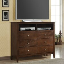 <strong>Wildon Home ®</strong> Greenville 6 Drawer Media Chest