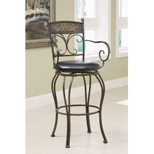 Hickory Creek Barstool in Black with Curved Legs
