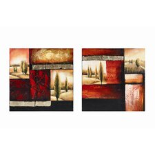 <strong>Wildon Home ®</strong> Red Brick Hill Wall Art (Set of 2)