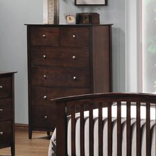<strong>Wildon Home ®</strong> Double Oak 5 Drawer Vertical Chest