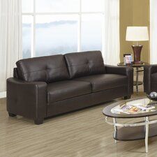 <strong>Wildon Home ®</strong> Oakwood Leather Sofa