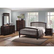 Double Oak Queen Slat Bedroom Collection
