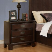 <strong>Wildon Home ®</strong> Bellwood 3 Drawer Nightstand