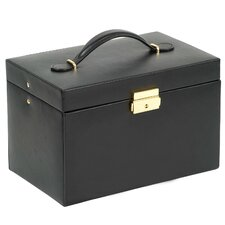 Large Jewelry Case with Three Drawers and Travel Case in Black