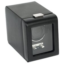 Single Watch Winder with Cover in Black