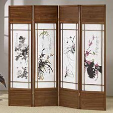 "<strong>Wildon Home ®</strong> 70"" x 68"" Shoji 4 Panel Room Divider"