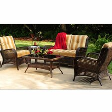 Agio Lander 4 Piece Seating Group with Cushions