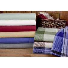 Winter Nights Cotton Flannel Sheet Set (Set of 4)