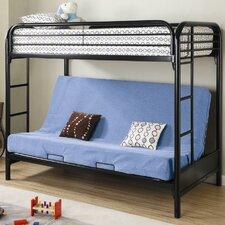 <strong>Wildon Home ®</strong> Elsie Twin over Futon Bunk Bed with Built-In Ladder