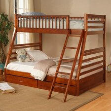 <strong>Wildon Home ®</strong> Dillard Twin over Full Bunk Bed with Storage