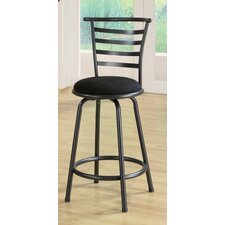 Burgess Slat Back Barstool in Gunmetal Gray
