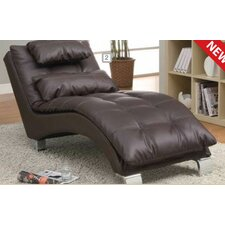 Brown indoor chaise lounges wayfair for Bernard chaise lounge