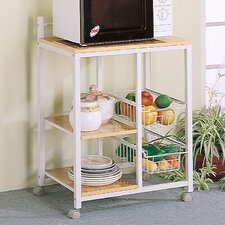 <strong>Wildon Home ®</strong> Lake Havasu Microwave Cart with Wood Top
