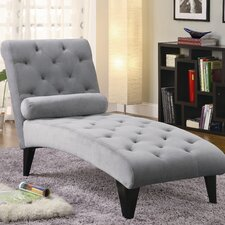 <strong>Wildon Home ®</strong> Velour Chaise Lounge