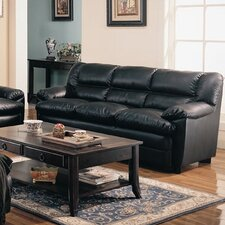 <strong>Wildon Home ®</strong> Palermo Sofa in Rich Dark Black